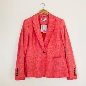BODEN | Coral Linen Blazer Sz 10